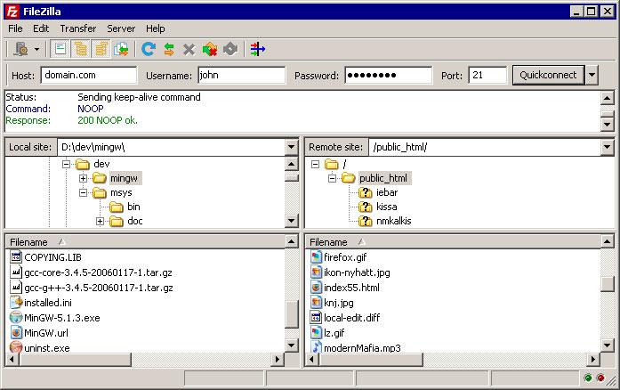 Ventana de navegación de archivos